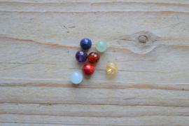 7 Chakra edelsteen kralen in ca. 6 mm