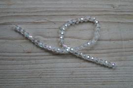 Kristalstrang Transparant AB facettierte runde perlen 6 mm