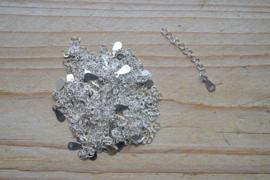Sterling zilver verlengkettinkje ca. 40 mm