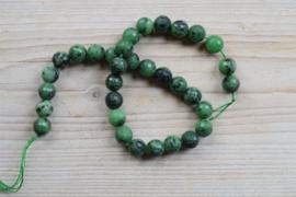 Rubin-Zoisit facettierte runde Perlen 12 mm