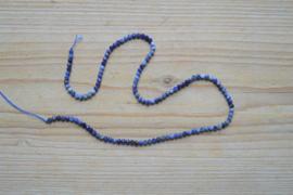 Sodaliet gefacetteerde ronde kralen ca. 3 mm A klasse (seedbeads)