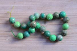 Grün Gras Achat facettierte runde Perlen 18 mm