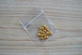Goudkleurige knijpkraalverbergers ca. 4 mm 20 stuks