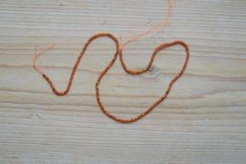 Oranje Granaat gefacetteerde ronde kralen ca. 2 mm A klasse (seedbeads)