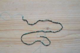 Azuriet gefacetteerde ronde kralen ca. 2,5 mm (seedbeads)