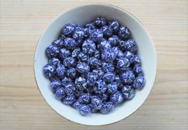 Delfts blauw plat met ster ca. 13 mm (per stuk)