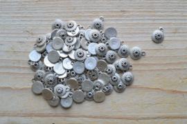 Metalen bedel rond ca. 10 x 12 mm per 5 stuks