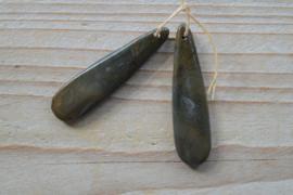Set Red Creek Jaspis hangers voor oorbellen F ca. 12 x 45 mm