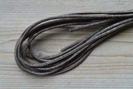 Rundes nappaleder snakestyle 4 mm Gemischt Braun pro 10 cm