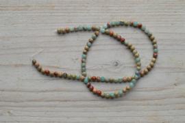 Impression Jaspis runde Perlen 4 mm