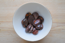 Poppy jaspis ovale cabochon ca. 22 x 30 mm