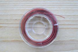 Rol gecoat staaldraad 10 meter rood 0,38 mm