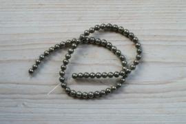 Pyrit runde Perlen 6 mm