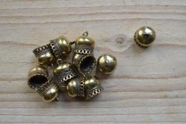 Bronskleurige eindkap 11 mm ca. 13 x 15 mm per stuk