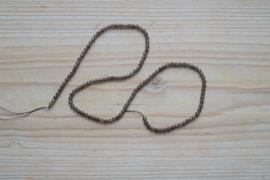 Rookkwarts gefacetteerde ronde kralen ca. 3 mm A klasse (seedbeads)