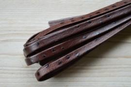 Flaches  nappaleder strauss 10 mm Dunkelbraun pro 10 cm