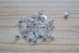 Achterkantjes voor oorbellen ca. 11 mm per 2 stuks