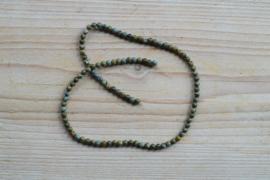 Groen Brecci Jaspis ronde kralen 4 mm