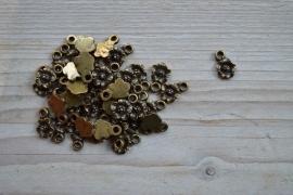 Bronskleurige bedel bloem ca. 10 x 14 mm per 3 stuks