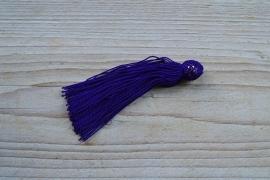 Kwastje nylon donkerblauw ca. 12 x 50 mm