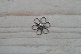 Tussenstuk sterling zilver Bloem I ca. 15 mm