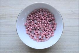 FP6-07 Facet 6 mm Luster Crystal Coral Pink per 25 stuks
