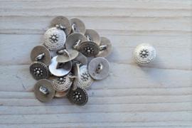 Metalen knoop 'klein' ca. 14 mm per 2 stuks