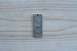 Metalen hanger dollarbiljet ca. 17 x 40 mm per stuk