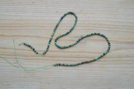 Afrikaans turquoise ronde kralen ca. 3 mm (seedbeads)