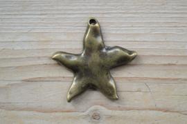 Bronzen hanger zeester ca. 55 x 56 mm