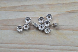 Rhinestone spacers ca. 7 mm (per 10 stuks)
