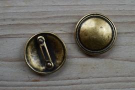Bronskleurige leerschuiver 20 mm ca. 36 mm per stuk