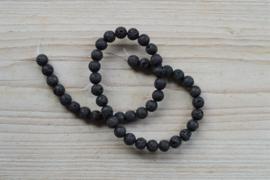 Zwart lavasteen ronde kralen 8 mm