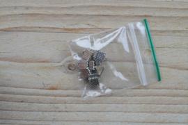 Metalen veterklemmen ca. 5 x 6 mm per 10 stuks