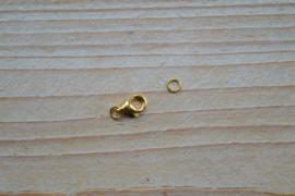 Karabinerverschluss Sterling Silber vergoldet S ca. 5 x 8 mm