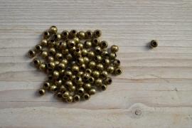 Bronskleurige kralen ca. 6 mm per 10 stuks