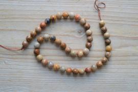 Versteend hout agaat gefacetteerde ronde kralen 8 mm