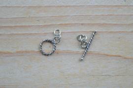Kapittelsluiting sterling zilver gedraaid 'klein' ca. 10 mm