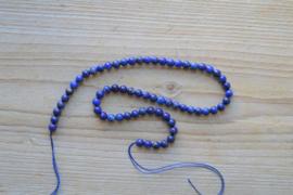 Lapis Lazuli runde Perlen 6 mm (ungefarbt)