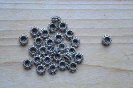 Spacer sterling zilver ca. 6,7 mm (per 5)