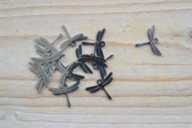 RVS bedel libelle ca. 13 x 18 mm per stuk