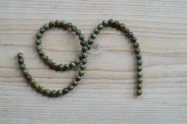 Groen Brecci Jaspis ronde kralen 6 mm