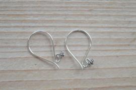 Oorbel sterling zilver `Zeeuws knoopje` ca. 13 x 22 mm (per 2)