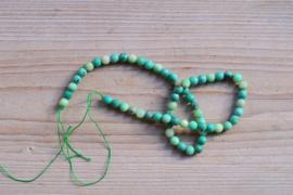 Grün Gras Achat facettierte runde Perlen 6 mm