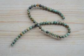 Afrikaans turquoise ronde kralen 6 mm