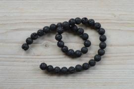 Zwart lavasteen ronde kralen 10 mm