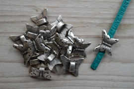 Metalen lederschieber Schmetterling ca. 17 x 20 pro stück
