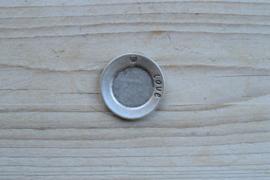 Metalen hanger schotel `love` ca. 32 mm per stuk