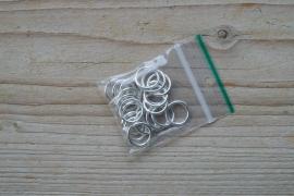 Metalen ringetjes open verzilverd 12 mm