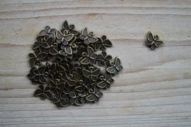 Bronskleurige bedel vlinder ca. 10 x 12 mm per 5 stuks